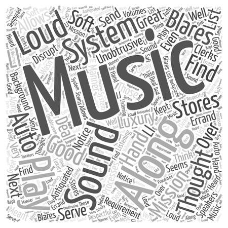 unobtrusive: A Good Auto Sound System is a Requirement not a Luxury Word Cloud Concept