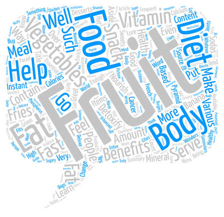 enrich: Enrich Your Diet With Fruits And Vegetables Word Cloud Concept Text Background