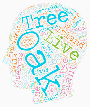 reputed: History Of Oak Trees Quercus Sp text background wordcloud concept