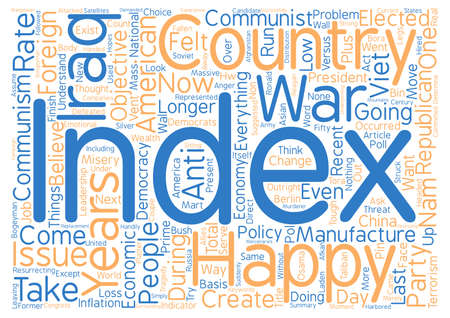 America s Happiness Index At New Low text background wordcloud concept Stock Photo
