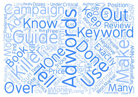 adwords: Adwords Killer Review My Adwords Killer Case Study text background word cloud concept