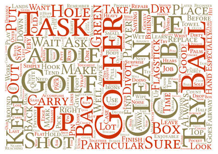 Caddie Tips For The Beginner Word Cloud Concept Text Background Stock Photo