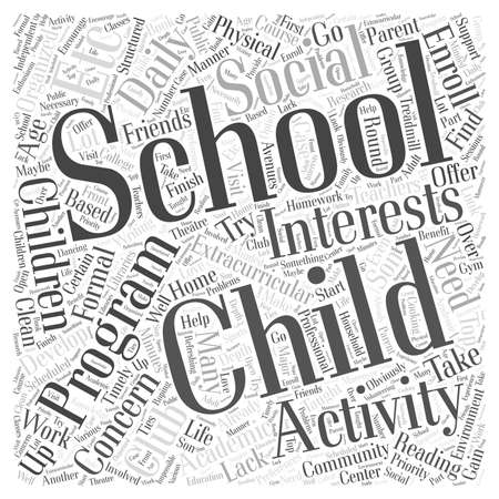 after school: A home based after school program Word Cloud Concept