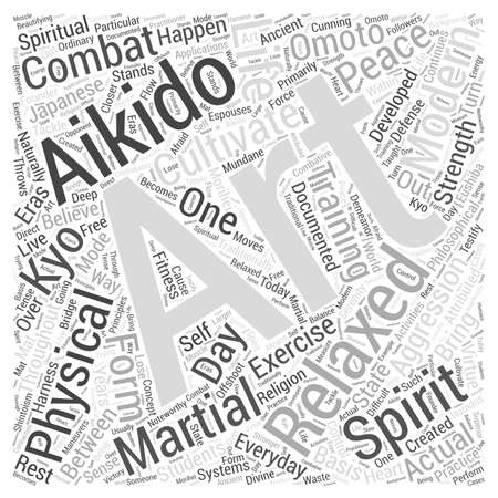 Aikido spirit Word Cloud Concept