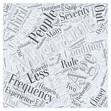 Aging and Migraines Word Cloud Concept