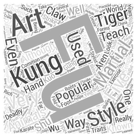 A Look At Kung Fu Word Cloud Concept