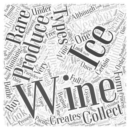 아이스 와인 단어 구름 개념을 한 번보세요. 일러스트