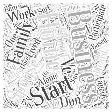 A Home Business Should Be A Family Affair Word Cloud Concept Ilustração Vetorial
