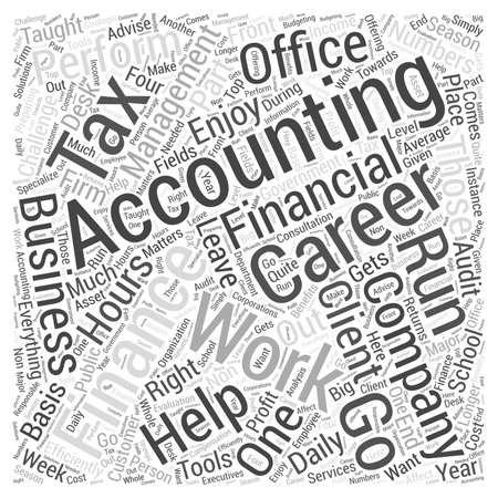 Accounting Finance Careers Word Cloud Concept