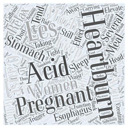 heartburn: acid reflux and pregnancy Word Cloud Concept Illustration