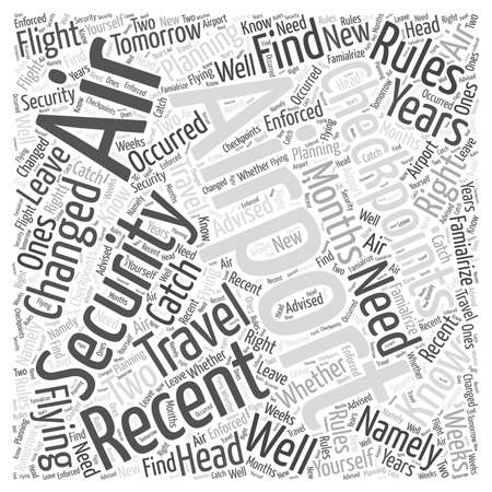 changed: Airport Security Checkpoints What You Need to Know Word Cloud Concept