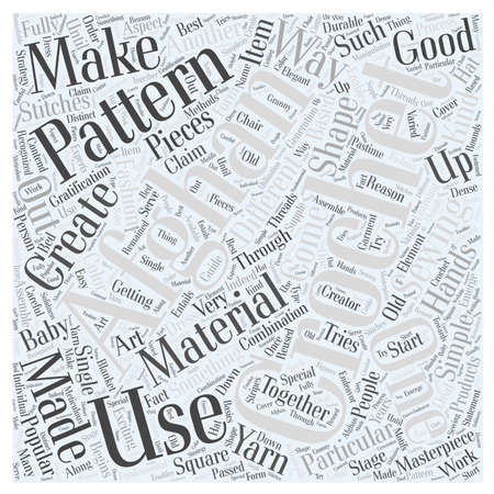 afghan crochet patterns Word Cloud Concept Illustration