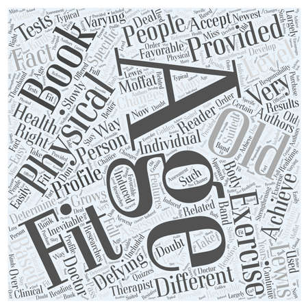 lewis: Age defying fitness Word Cloud Concept