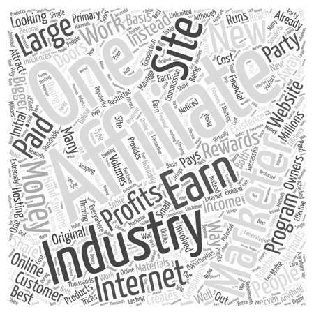 shutting: Affiliate Marketing Internet Industry Word Cloud Concept