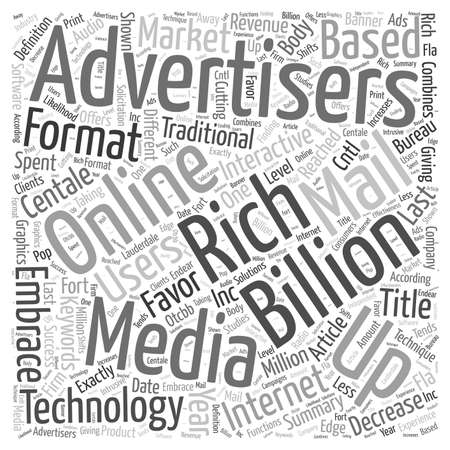 Advertisers Embrace Rich Media Format Word Cloud Concept