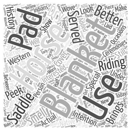 A Peek into The History of Horse Blankets Word Cloud Concept
