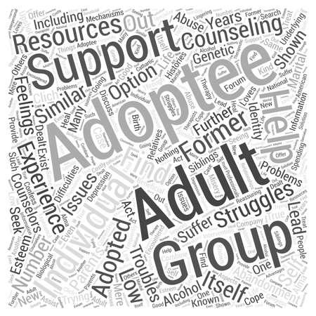 abandonment: Adoption Resources Word Cloud Concept
