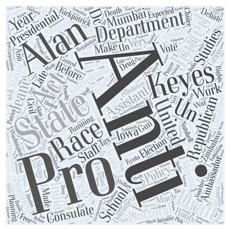 Alan Keyes Republican Word Cloud Concept Stok Fotoğraf - 73065910