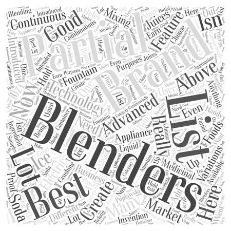 A Partial List of the Best Blenders Word Cloud Concept