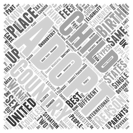 reasons: Adoptions Word Cloud Concept