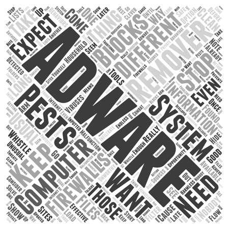 adware: Adware remover Word Cloud Concept
