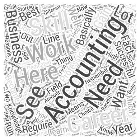 able to learn: Accountancy Career The Reasons Why You Should Choose Accounting Word Cloud Concept