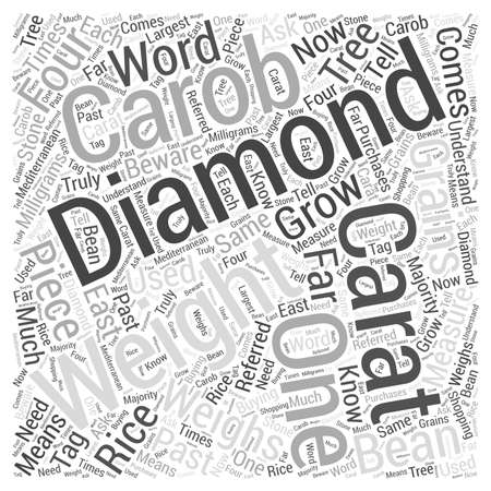 measured: About diamond weights Word Cloud Concept