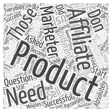 Age Old Question Do You Need to Have Your Own Product Word Cloud Concept Illustration