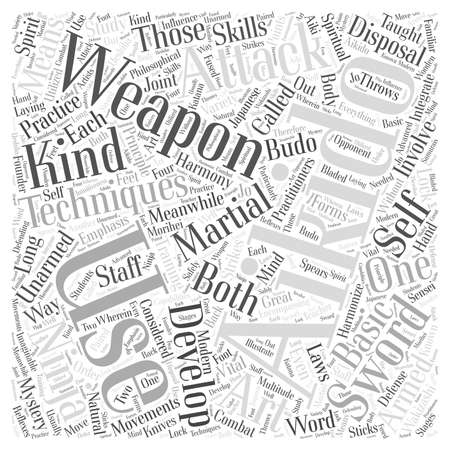 aikido technique weapon Word Cloud Concept