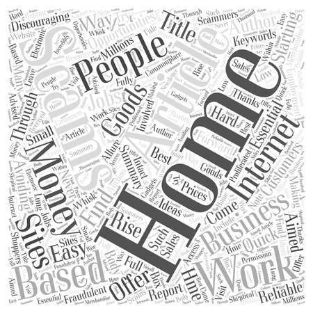 Avoiding Work at Home Employment Scams Word Cloud Concept