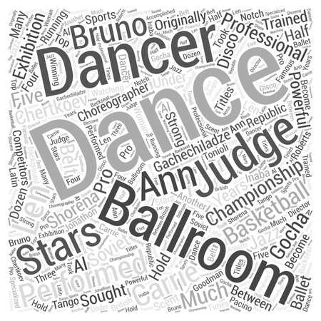 Bailarines y jueces de salón Word Cloud Concept Foto de archivo - 73610612