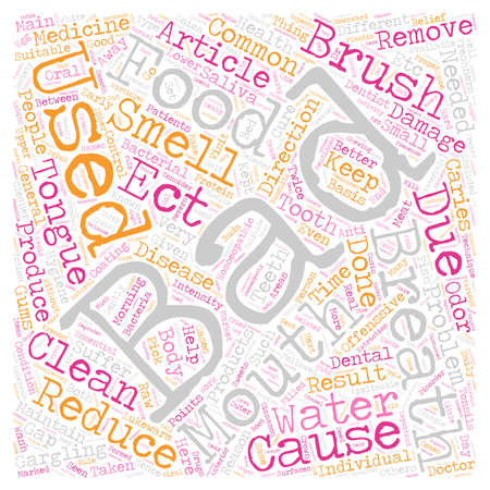 BAD BREATH 2 text background wordcloud concept Illustration