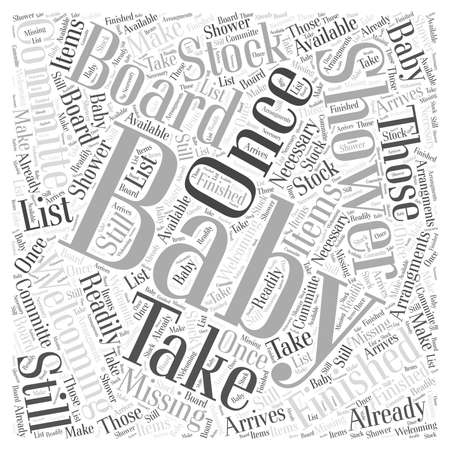 Babyshower Word Cloud Concept