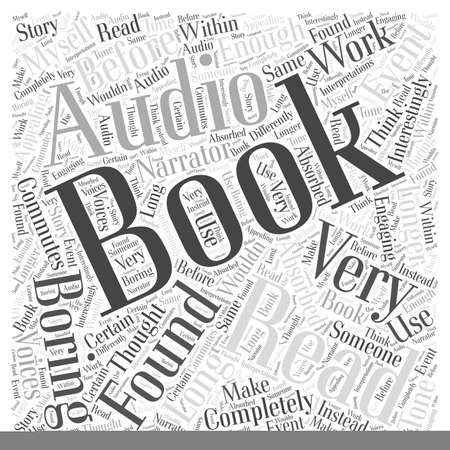 absorbed: audio books Word Cloud Concept