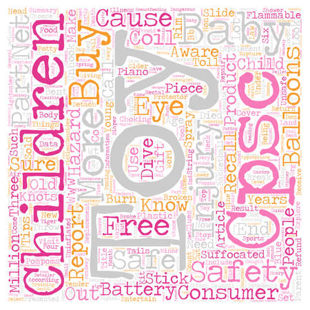 Baby Toy Safety text background wordcloud concept