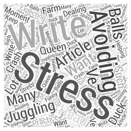 avoiding: Avoiding Stress Word Cloud Concept Illustration
