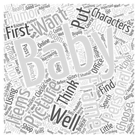 aspects: Baby picture frames word cloud concept