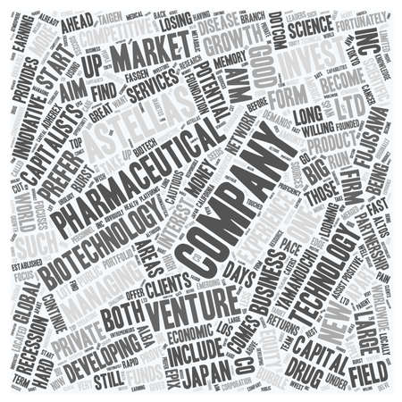 astellas venture capital text background wordcloud concept Illustration