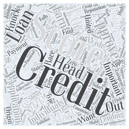 average credit score us Word Cloud Concept