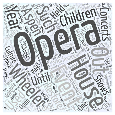 Aspen nightlife the wheeler opera house Word Cloud Concept Banco de Imagens - 73450856