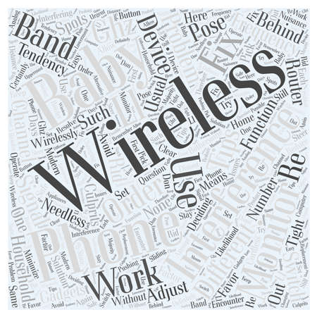 wirelessly: Baby Monitors And Wireless Phones Tips On How To Fix Interference Issues Word Cloud Concept