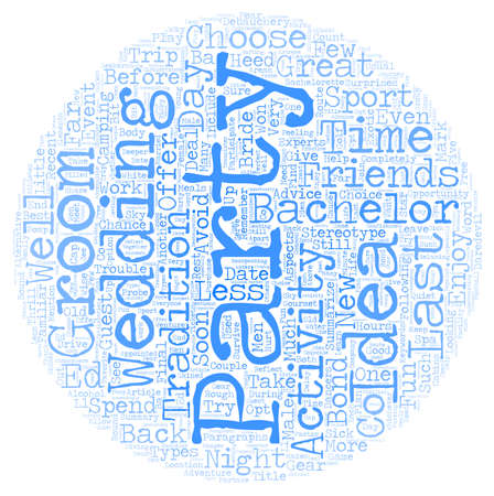Bachelor Party Ideas text background wordcloud concept Çizim