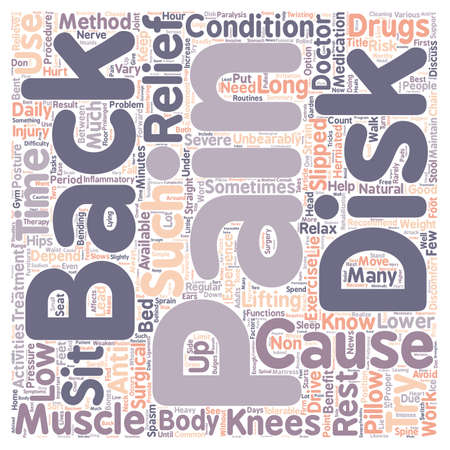 Back Pain Relief text background wordcloud concept