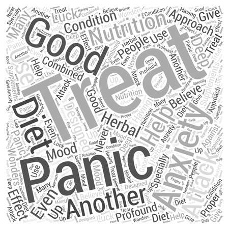 specially: Anxiety and panic attack Word Cloud Concept