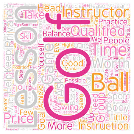 Are Golf Lessons Worth The Price text background wordcloud concept