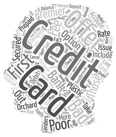 Bad Credit Credit Card Offers text background wordcloud concept