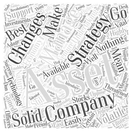 Asset Management in a Volatile Economy Word Cloud Concept Ilustrace