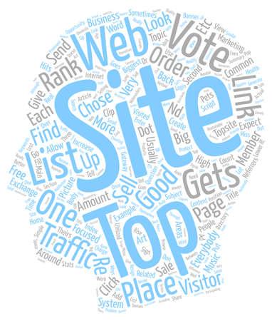 Los mejores sitios web son buenos para todos, texto, fondo, concepto de wordcloud Ilustración de vector