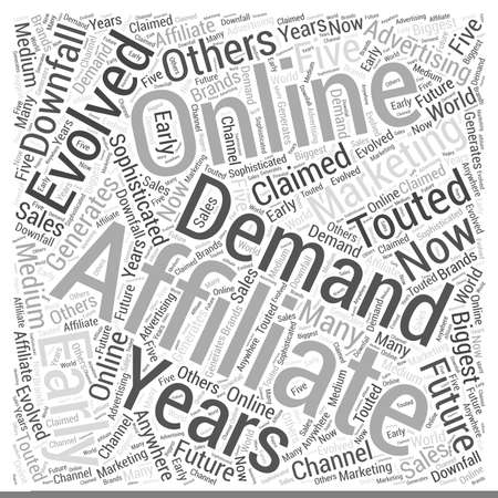 generates: Are Affiliates in Demand Word Cloud Concept Illustration