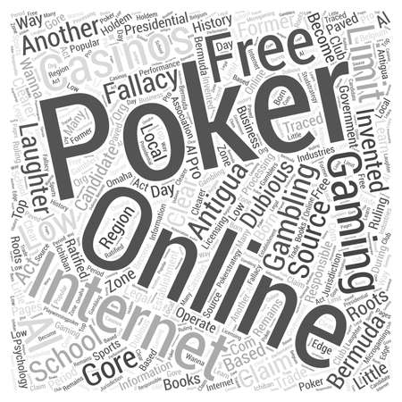 fallacy of online poker gaming Word Cloud Concept